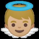 Android Pie; U+1F47C U+1F3FC; Emoji