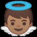 Android Pie; U+1F47C U+1F3FD; Emoji