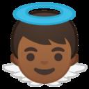 Android Pie; U+1F47C U+1F3FE; Emoji