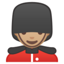 Android Pie; U+1F482 U+1F3FC; Emoji