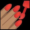 Android Pie; U+1F485 U+1F3FD; Emoji