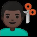 Android Pie; U+1F487 U+1F3FF U+200D U+2642 U+FE0F; Emoji