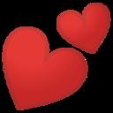 Android Pie; U+1F495; Emoji