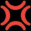 Android Pie; U+1F4A2; Emoji