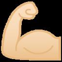 Android Pie; U+1F4AA U+1F3FB; Emoji