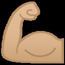 Android Pie; U+1F4AA U+1F3FC; Emoji