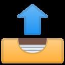 Android Pie; U+1F4E4; Emoji