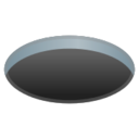 Android Pie; U+1F573 U+FE0F; Emoji