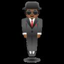 Android Pie; U+1F574 U+1F3FE; Emoji