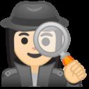Android Pie; U+1F575 U+1F3FB U+200D U+2640 U+FE0F; Emoji