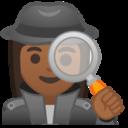 Android Pie; U+1F575 U+1F3FE U+200D U+2640 U+FE0F; Emoji