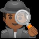 Android Pie; U+1F575 U+1F3FE U+200D U+2642 U+FE0F; Emoji