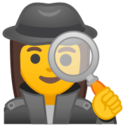 Android Pie; U+1F575 U+FE0F U+200D U+2640 U+FE0F; Emoji