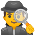 Android Pie; U+1F575 U+FE0F U+200D U+2642 U+FE0F; Emoji
