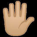 Android Pie; U+1F590 U+1F3FC; Emoji