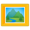 Android Pie; U+1F5BC U+FE0F; Emoji