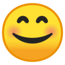 Android Pie; U+1F60A; Emoji