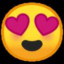 Android Pie; U+1F60D; Emoji