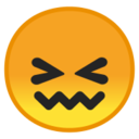Android Pie; U+1F616; Emoji