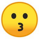 Android Pie; U+1F617; Emoji