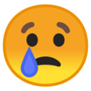 Android Pie; U+1F622; Crying Emoji