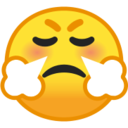 Android Pie; U+1F624; Emoji