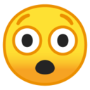 Android Pie; U+1F632; Emoji