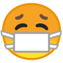 Android Pie; U+1F637; Emoji