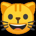 Android Pie; U+1F63A; Emoji