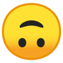 Android Pie; U+1F643; Emoji