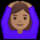 Android Pie; U+1F646 U+1F3FD U+200D U+2640 U+FE0F; Emoji