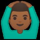Android Pie; U+1F646 U+1F3FE U+200D U+2642 U+FE0F; Emoji