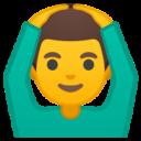 Android Pie; U+1F646 U+200D U+2642 U+FE0F; Emoji