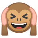 Android Pie; U+1F649; Scimmia Non Sentire Il Male Emoji