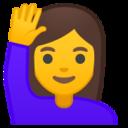 Android Pie; U+1F64B U+200D U+2640 U+FE0F; Emoji