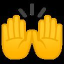 Android Pie; U+1F64C; Emoji