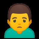 Android Pie; U+1F64D U+200D U+2642 U+FE0F; Emoji