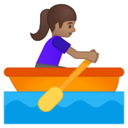 Android Pie; U+1F6A3 U+1F3FD U+200D U+2640 U+FE0F; Emoji
