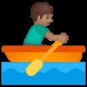 Android Pie; U+1F6A3 U+1F3FD U+200D U+2642 U+FE0F; Emoji