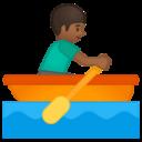 Android Pie; U+1F6A3 U+1F3FE U+200D U+2642 U+FE0F; Emoji