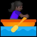 Android Pie; U+1F6A3 U+1F3FF U+200D U+2640 U+FE0F; Emoji