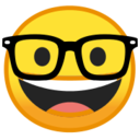 Android Pie; U+1F913; Emoji