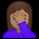 Android Pie; U+1F926 U+1F3FD; Emoji