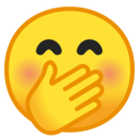 Android Pie; U+1F92D; Emoji