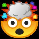 Android Pie; U+1F92F; Visage Avec Tête Qui Explose Emoji