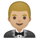 Android Pie; U+1F935 U+1F3FC; Emoji
