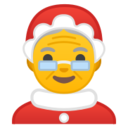 Android Pie; U+1F936; Mother Christmas Emoji