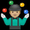 Android Pie; U+1F939 U+1F3FC; Emoji