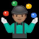 Android Pie; U+1F939 U+1F3FD U+200D U+2642 U+FE0F; Emoji