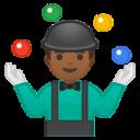 Android Pie; U+1F939 U+1F3FE U+200D U+2642 U+FE0F; Emoji